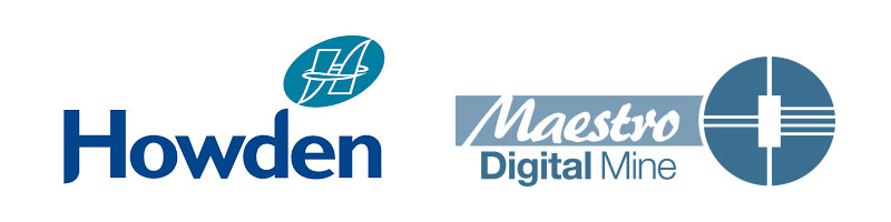 Image of the Maestro Digital Mines logo and Howden logo.