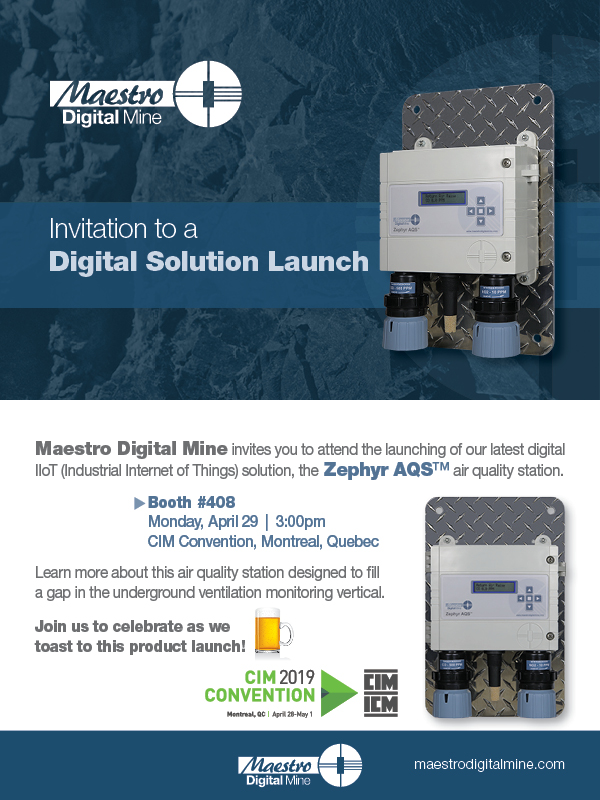 Invitation to a product launch at CIM Convention