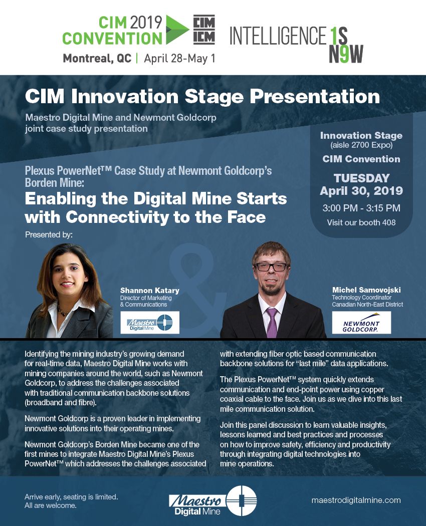 CIM Innovation Stage Presentation Invite