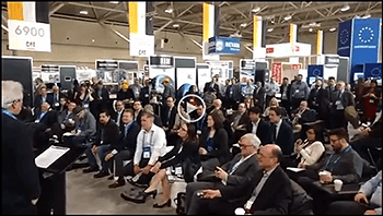 Image of PDAC panel audience and link to video clip