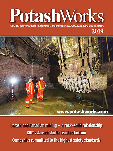 Cover of PotashWorks 2018-2019 issue